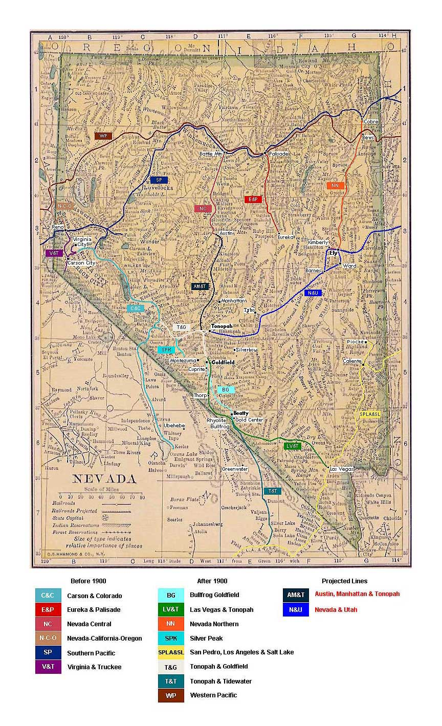 The Ely-Goldfield Railroad and Other Vapor Routes