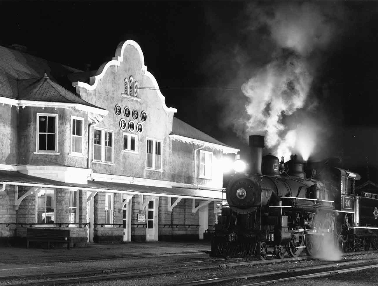 Night view of 40 at depot