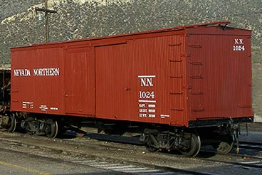 Boxcar 1024, literally as good as new after over 100 years of service<br>No, this is not an HO model. This is a current picture of the real thing