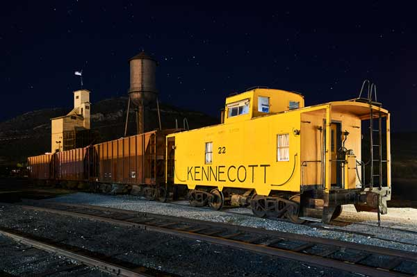 Can we really sleep overnight, right here in the rail yard?  In that caboose?