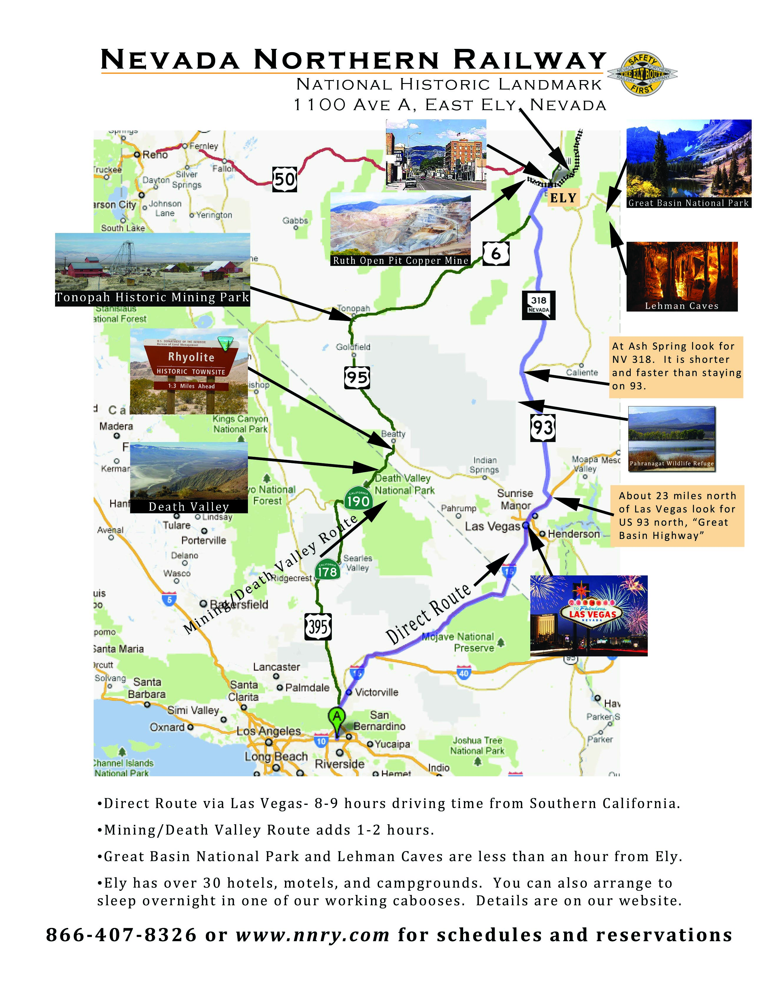 How to get to the Nevada Northern Railway Museum in Ely, Nevada