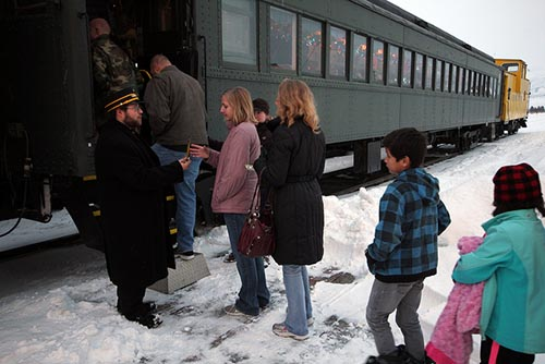 Tickets, Please.  Ready to board the Christmas Train for a trip to the North Pole